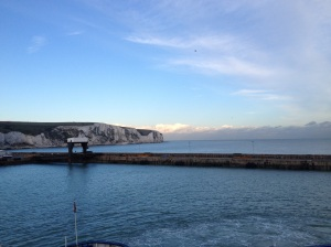 Pulling into Dover harbour.